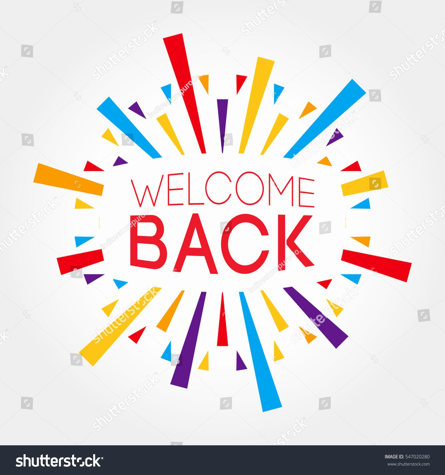 Welcome Back Banner Template Beautiful Line Image & Editor Shutterstock Editor