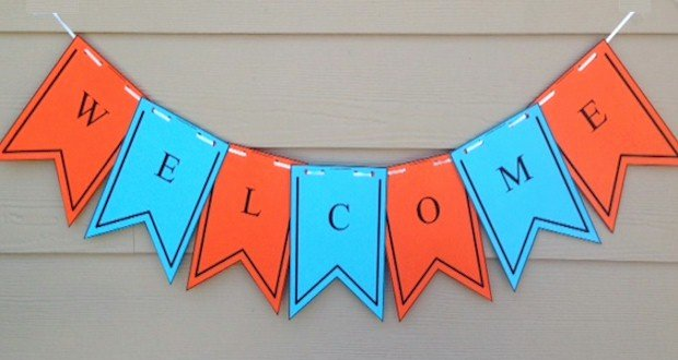 Welcome Back Banner Template Beautiful Printable Wel E Banner Template First Day Of School