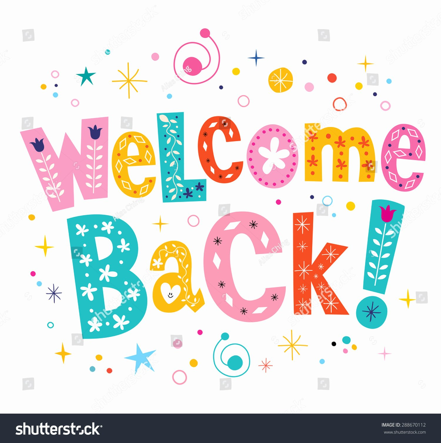 Welcome Back Banner Template Unique Wel E Back Decorative Lettering Text Stock Vector