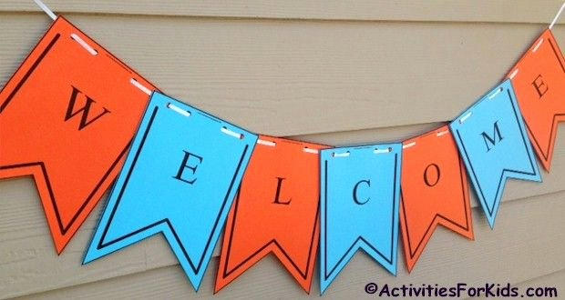 Welcome Back Sign Template Awesome 25 Best Ideas About Wel E Banner On Pinterest