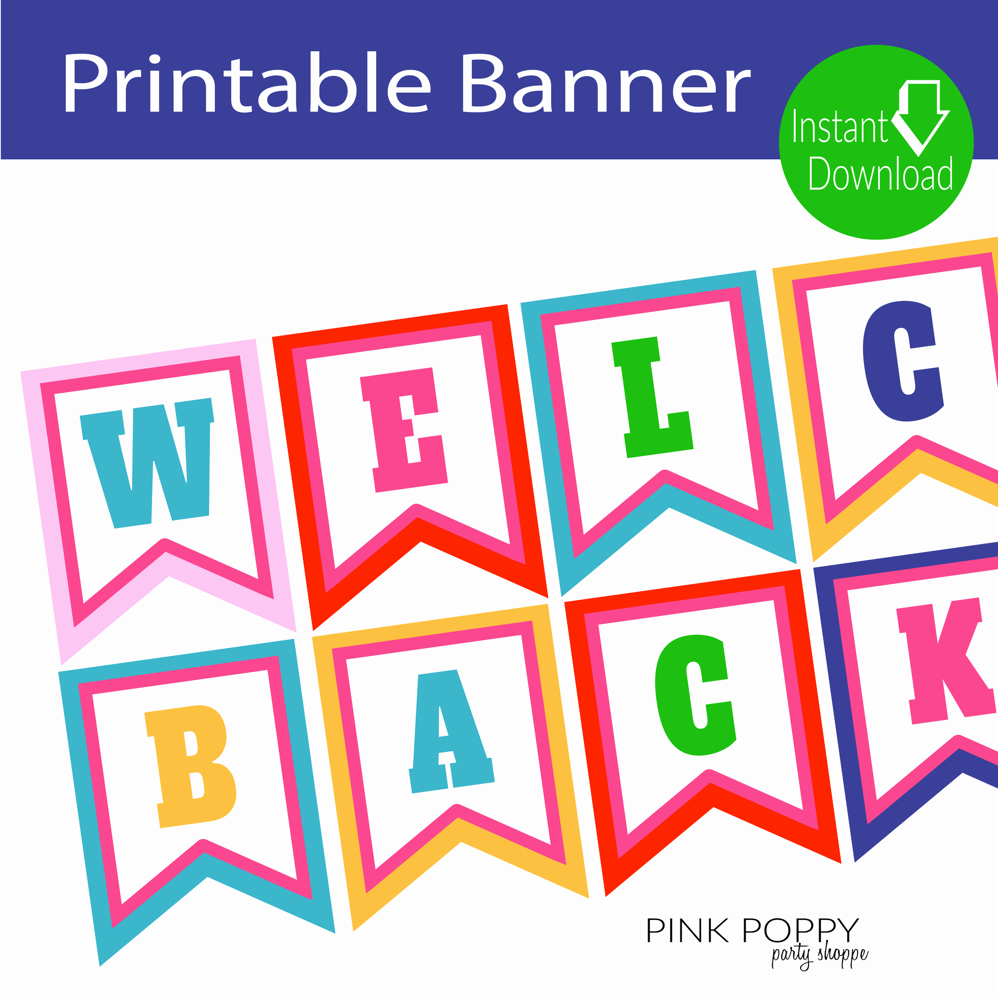 Welcome Back Sign Template Elegant Free Printables Wel E Back Banner Pink Poppy Party