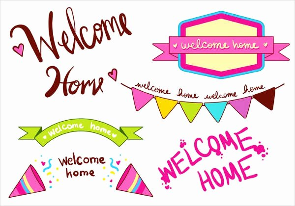 Welcome Back Sign Template Inspirational 8 Wel E Home Banners Free Psd Eps Ai Vector format