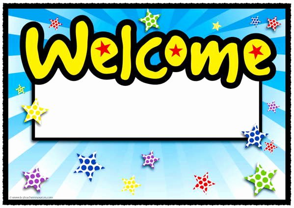 Welcome Back Sign Template Lovely Spotty Back to School Range