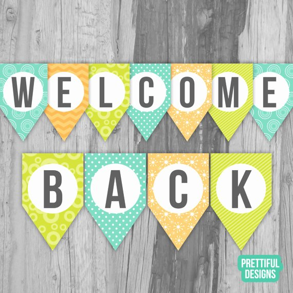 Welcome Back Sign Template Unique Wel E Back First Day Of School Banner Printable Instant