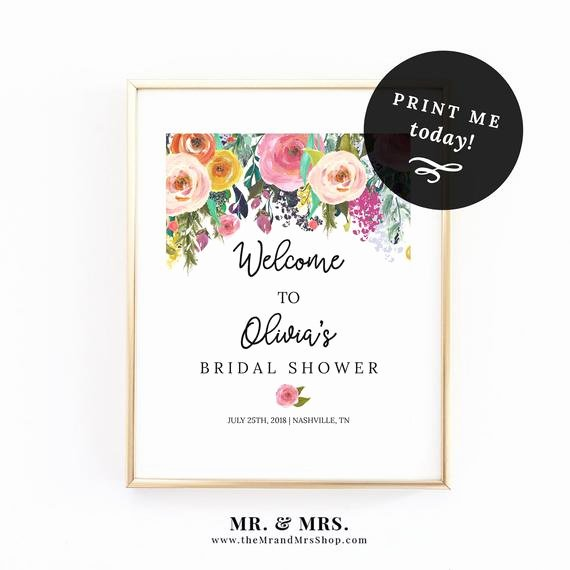 Welcome Sign Template Free Inspirational Editable Floral Wel E Sign Template Instant Download