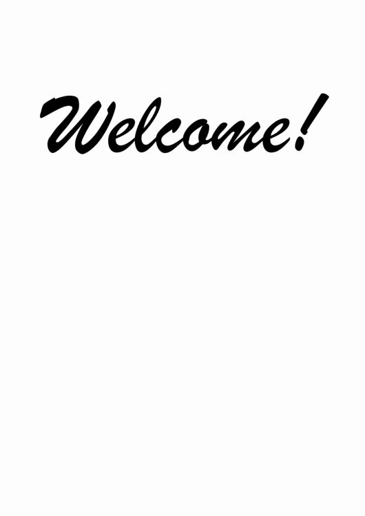 Welcome Sign Template Free Inspirational top 15 Wel E Sign Templates Free to In Pdf format