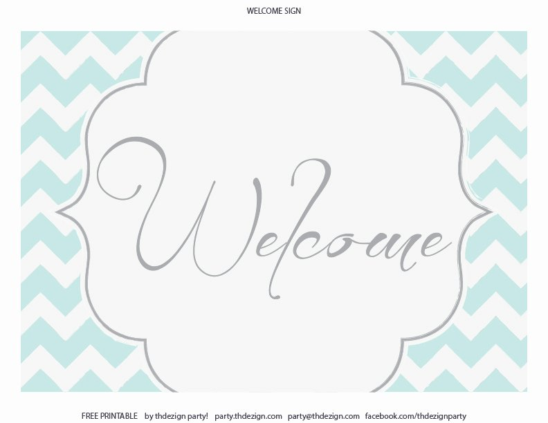 Welcome Sign Template Free Unique Free Chevron Party Printables From Thdezign Party
