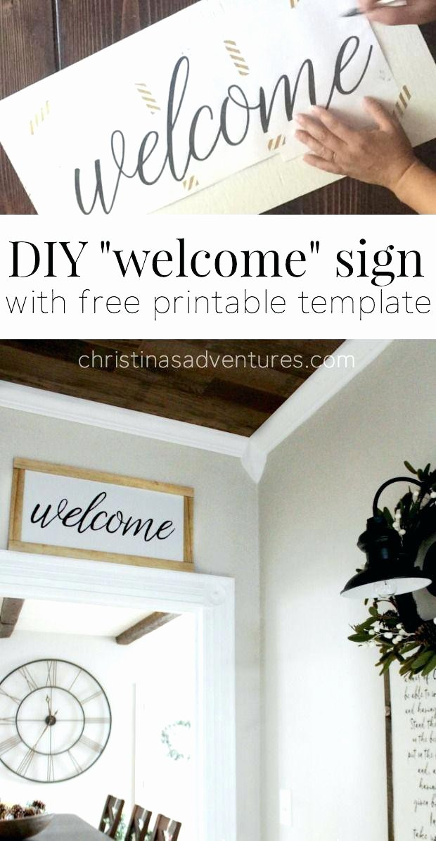 Welcome Sign Template Free Unique Wel E Sign Template Free Warning Word – theopulence