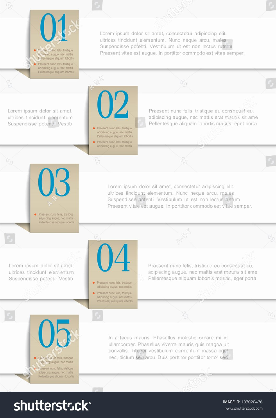 White Paper Design Template Best Of White Paper Numbered Banners Vector Design Template