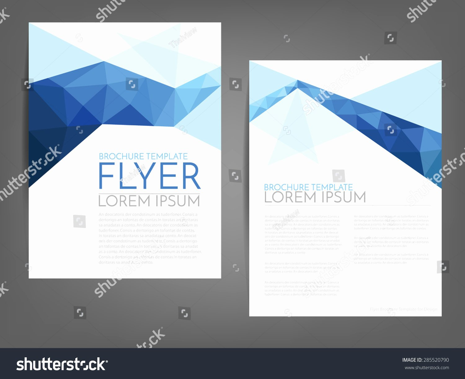 White Paper Design Template Luxury Blue Polygonal Line Brochure Template Flyer 스톡 벡터