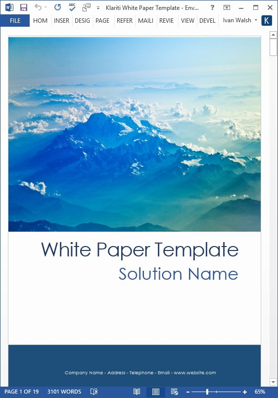 White Paper Design Template Luxury White Papers – Ms Word Templates & Free Tutorials