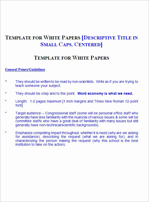 White Paper Template Doc Elegant 13 White Paper Templates – Pdf Word