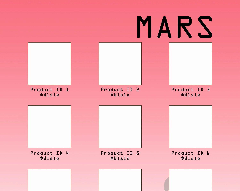 Wholesale Line Sheet Template Beautiful Line Sheet or wholesale Catalog Template Mars Design