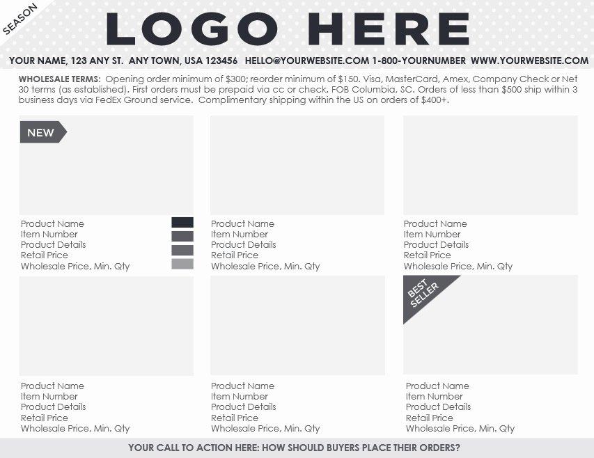Wholesale Line Sheet Template Elegant Ing soon Professional Line Sheet order form Design