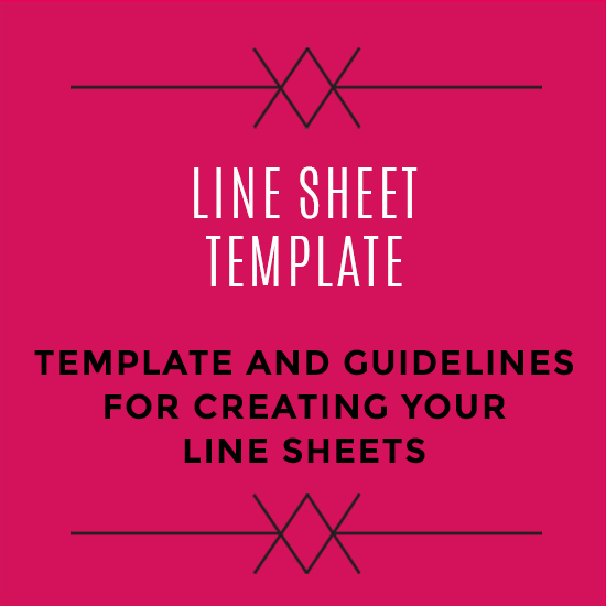 Wholesale Line Sheet Template Elegant wholesale Line Sheet Template
