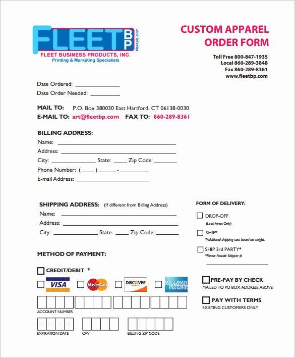 Wholesale order form Template Fresh 29 order form Templates Pdf Doc Excel
