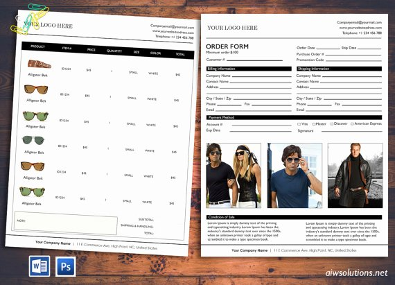Wholesale Price List Template Best Of Price Sheet order form Template Cover order form