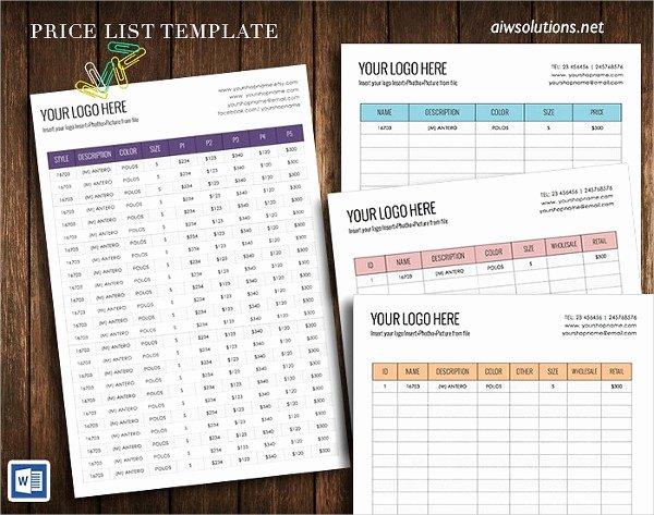 Wholesale Price List Template Luxury 23 Printable Price List Templates Free & Premium Download