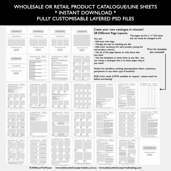 Wholesale Price List Template Luxury Catalogue Template wholesale Retail Pricing Product Line