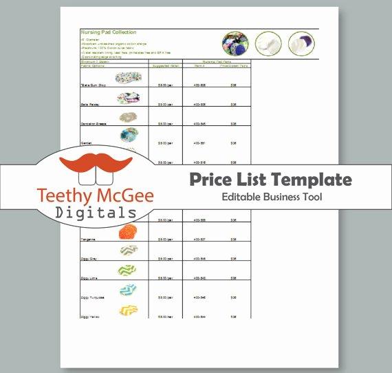Wholesale Price List Template Unique Price List Template Instant Download Editable for wholesale