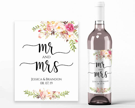 Wine Bottle Tag Template Beautiful Wedding Wine Labels Wedding Wine Printable Wine Label Template