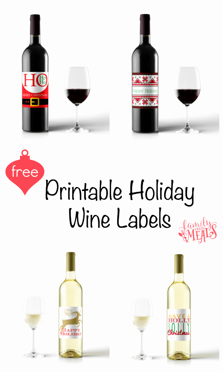 Wine Bottle Tag Template Inspirational Free Printable Holiday Wine Labels Family Fresh Meals