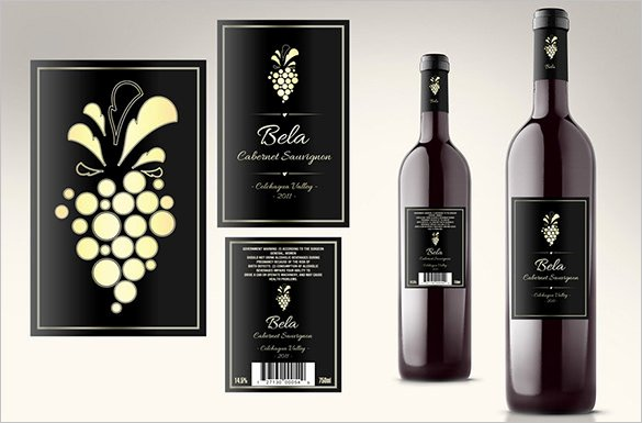 Wine Bottle Tag Template Luxury 35 Wine Label Templates