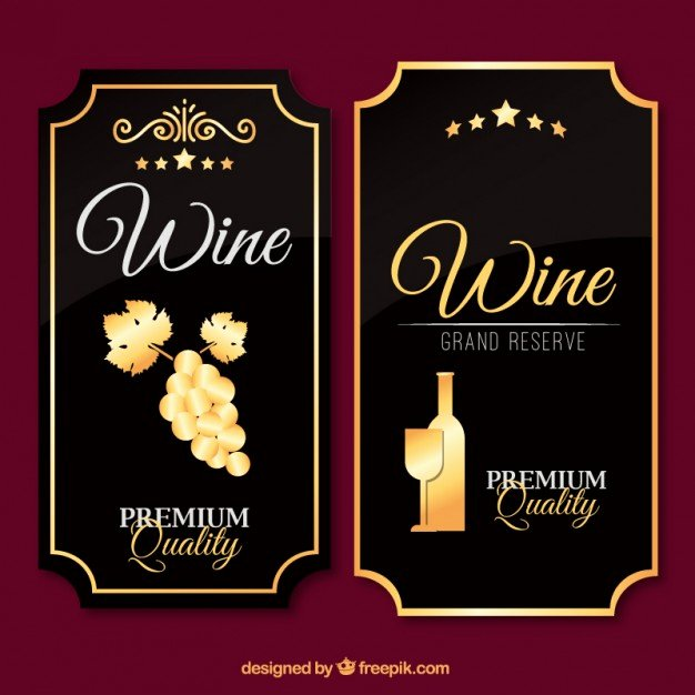 Wine Label Template Free Awesome Luxury Wine Labels In Vintage Design Vector
