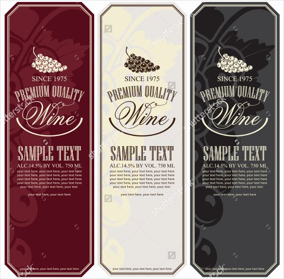 Wine Label Template Free Beautiful 34 Wine Label Templates – Free Sample Example format