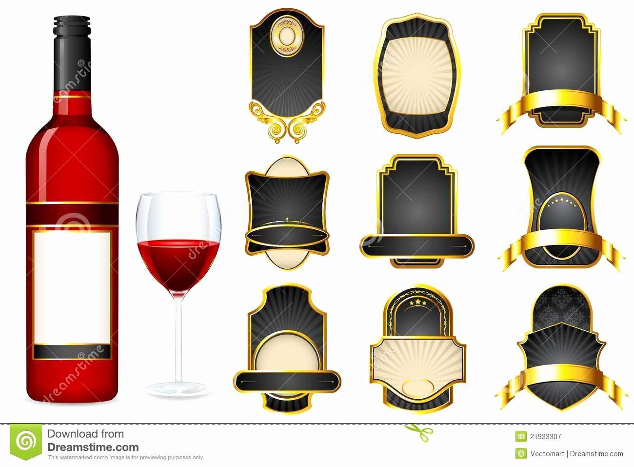 Wine Label Template Free Beautiful Liquor Label Template
