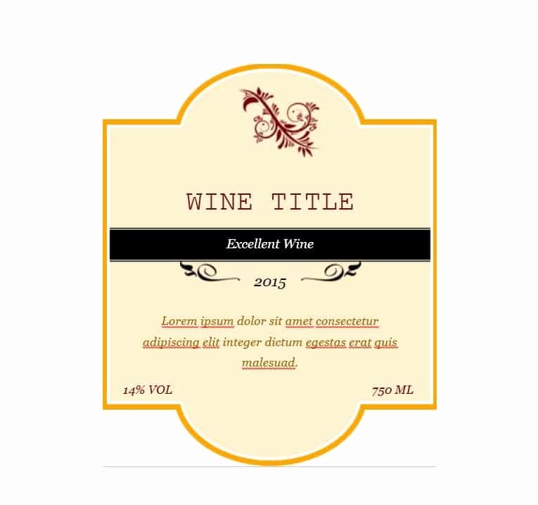 Wine Label Template Free Fresh 40 Free Wine Label Templates Editable Template Archive