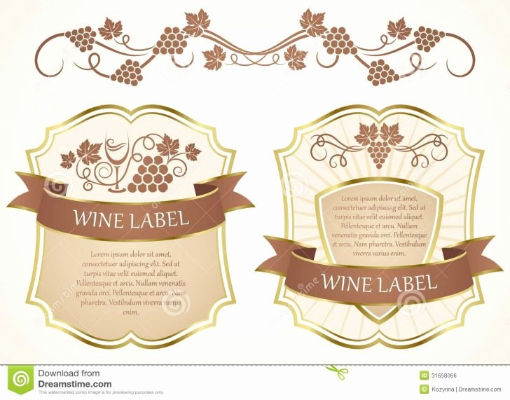 Wine Label Template Free Luxury Template Wine Label Template
