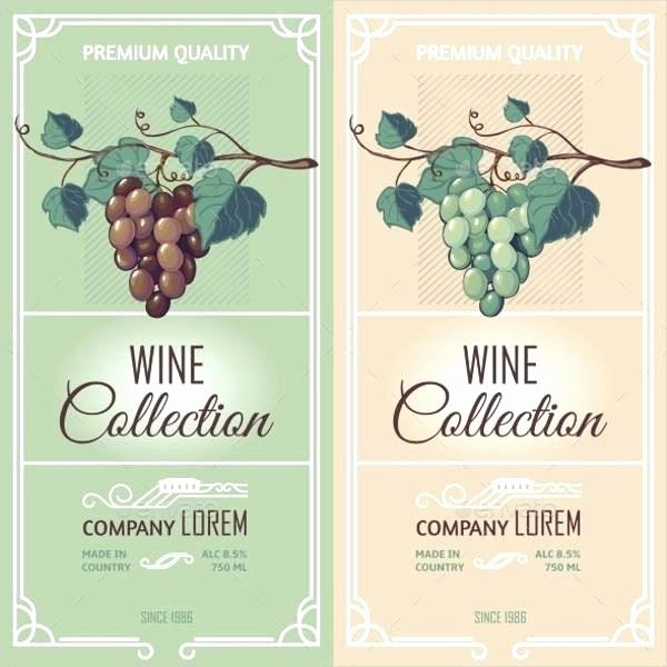 Wine Label Template Photoshop Awesome Wine Label Template Psd – Shanon