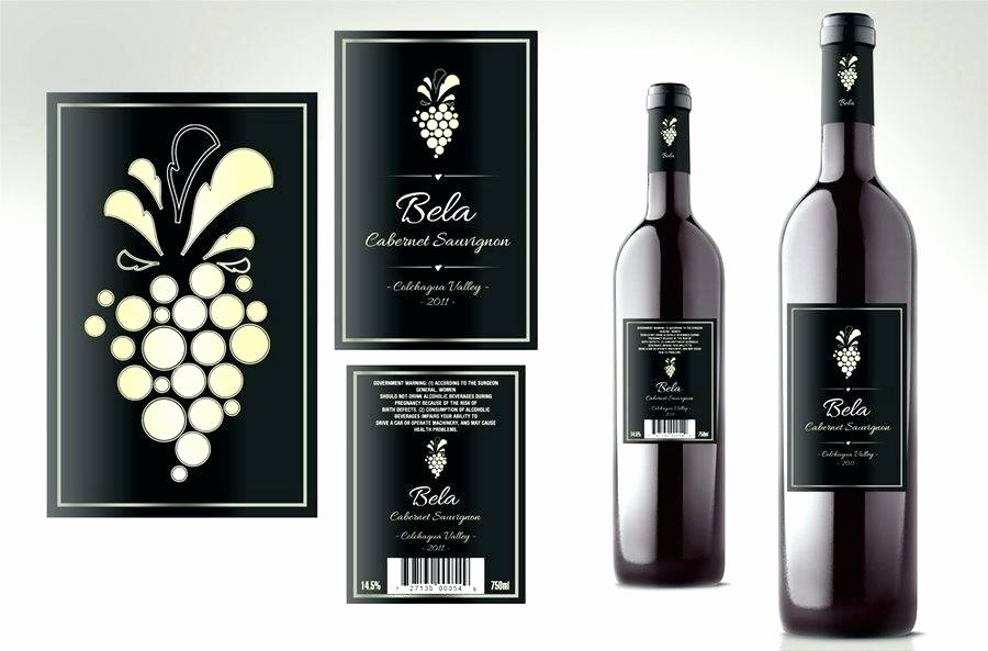 Wine Label Template Photoshop Beautiful Wine Bottle Label Template Shop Premium Champagne