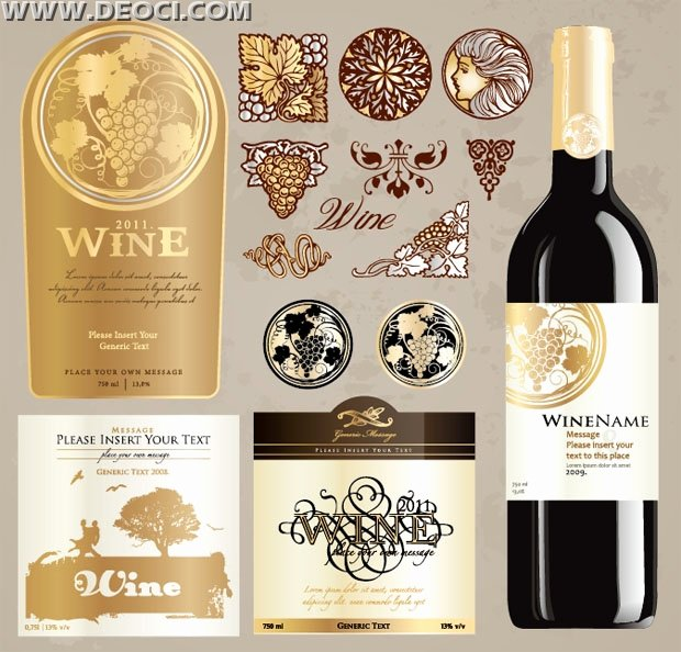 Wine Label Template Photoshop Fresh Vintage Wine Label Collection Bottle Packaging Design