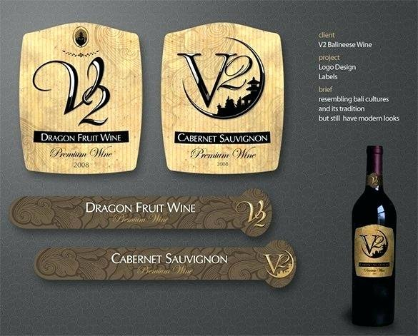 Wine Label Template Photoshop Inspirational Wine Bottle Label Template Shop Premium Champagne