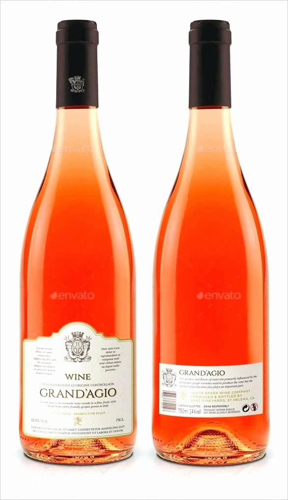 Wine Label Template Photoshop Unique Photoshop Bottle Label Template – Ensitefo