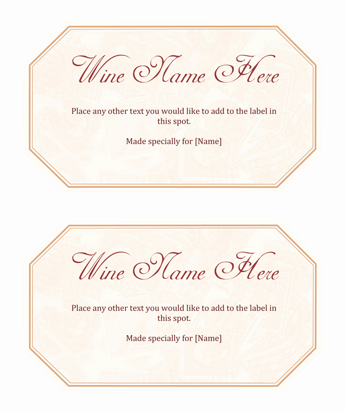 Wine Label Template Word Best Of Wine Label Template Make Your Own Wine Labels