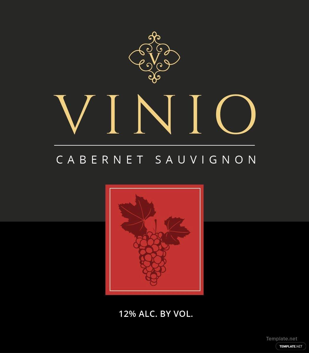 Wine Label Template Word Elegant Free Wine Bottle Label Template In Microsoft Word