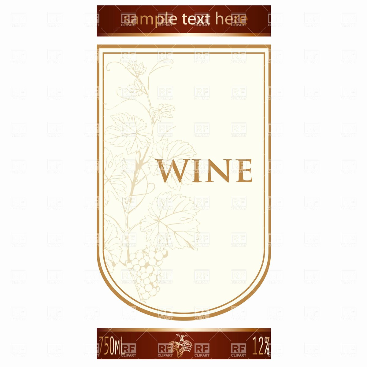 Wine Label Template Word Inspirational Label Templates Clipart Clipart Suggest