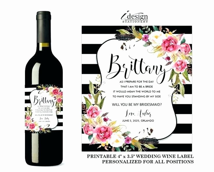 Wine Label Template Word Inspirational Wine Label Template Free Printable Pink Flowers Wine