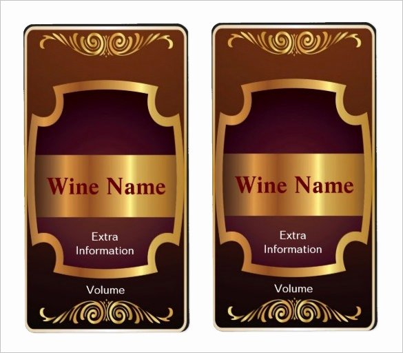 Wine Label Template Word Inspirational Wine Label Template