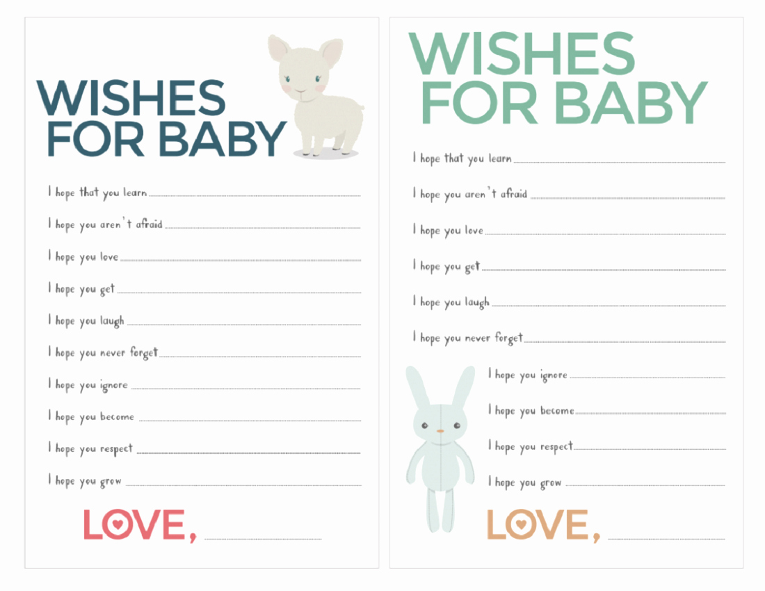 Wishes for Baby Template Awesome Free Baby Shower Games Printable Worksheets Cute