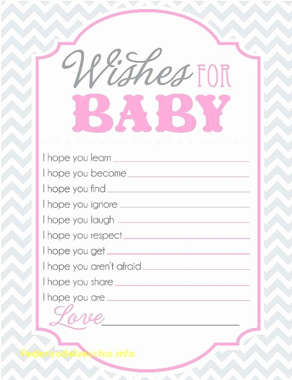Wishes for Baby Template Best Of Free Baby Shower Game Templates Excellent Sheet for Wishes