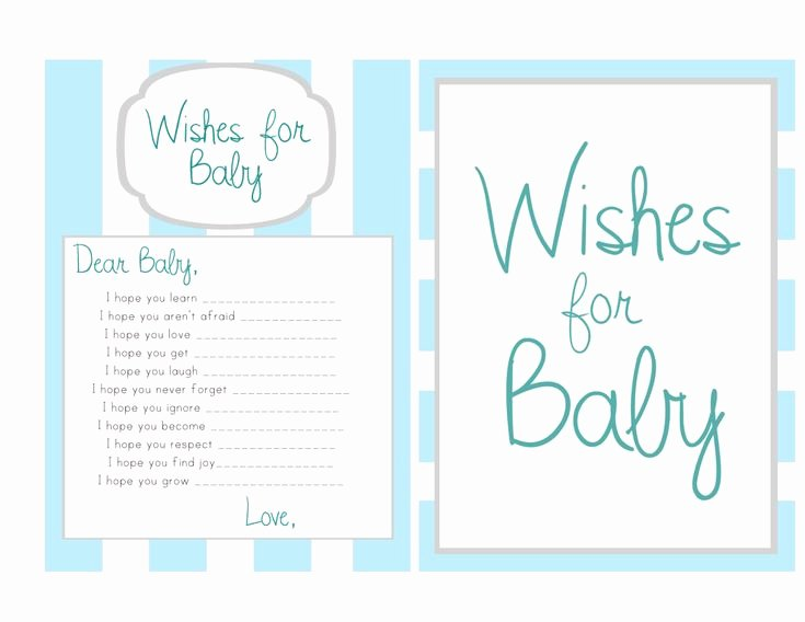 Wishes for Baby Template Best Of Wishes for Baby