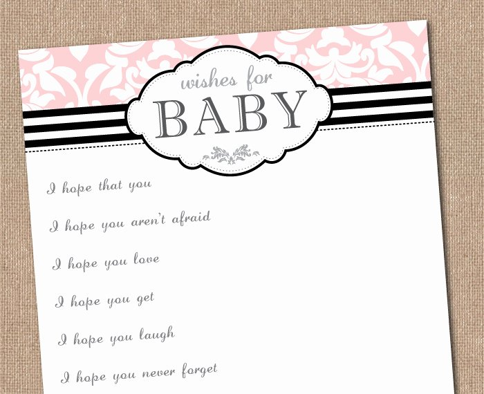 Wishes for Baby Template Elegant Free Chevron Baby Shower Invitation Template
