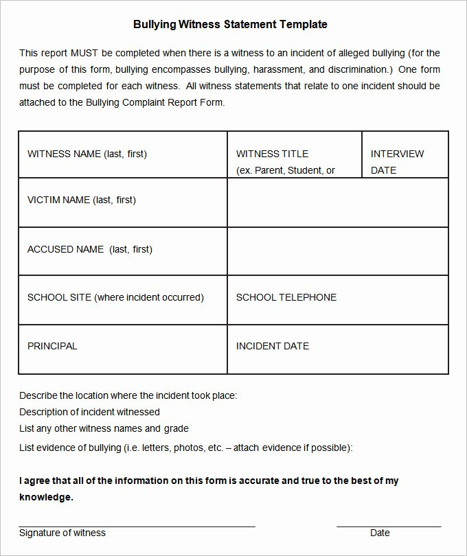 Witness Statement Template Word Awesome 11 Sample Witness Statement Templates Pdf Docs Word
