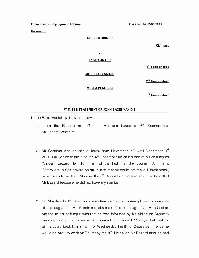 Witness Statement Template Word Fresh Uk Affidavit Template – iso Certification