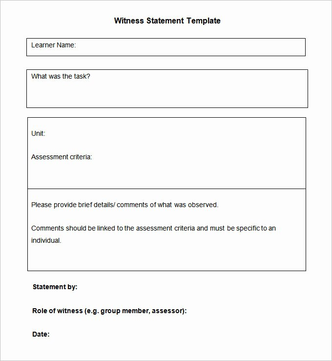 Witness Statement Template Word New 11 Sample Witness Statement Templates Pdf Docs Word
