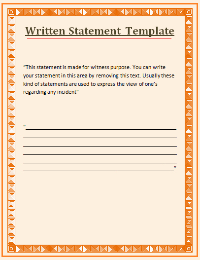 Witness Statement Template Word New Witness Statement Template